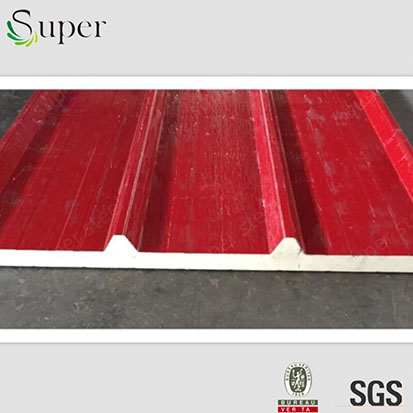 Red Color PU Sandwich Panel